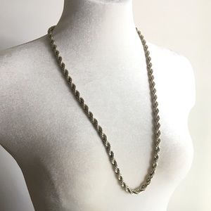 🆕 Listing!  Vintage | Sterling Silver Rope Chain